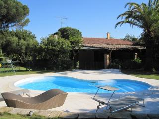 Villa Ginestra, luxury beachside villa with pool - Porto Pino vacation rentals