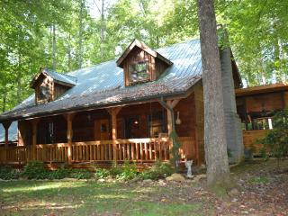 Beautiful hand-hewed log cabin on edge of Smokies - Tennessee vacation rentals