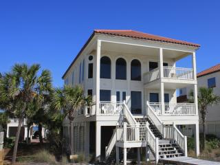 Beachfront! 2 Story Great Room! Pool/Hot Tub/Bar! - Saint George Island vacation rentals