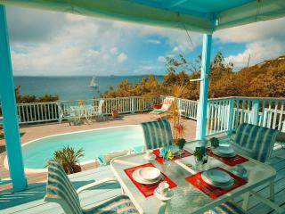 French Cap -2 bdm pool villa-sunsets-hear the surf below - Virgin Islands National Park vacation rentals