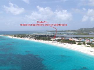 COSTA CARAIBES 91... the best value on Orient beach!!  Charming beachfront condo with high end amenities (close to nudist beach) - Saint Martin-Sint Maarten vacation rentals