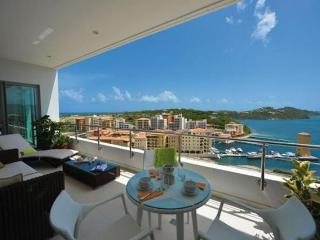 Moonrise at Blue Residence, Cupecoy, Saint Maarten - Pool, 180 Degree View of - Cupecoy vacation rentals