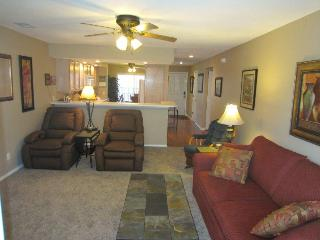 Screen Porch View-Recliners-4 Steps |Pointe Royale - Branson vacation rentals