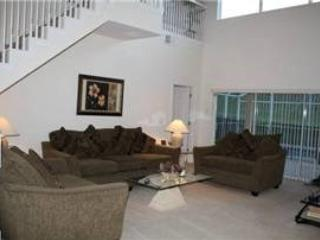 Living Area - WHA5P245WP 5 Bedroom Pool Home with Spa, Internet and Baby Gears - Orlando - rentals