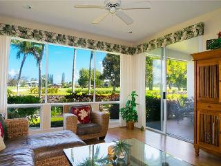 Emmalani Court 312: Air-conditioned 2br/2ba, walk to beach and St Regis, view - Princeville vacation rentals