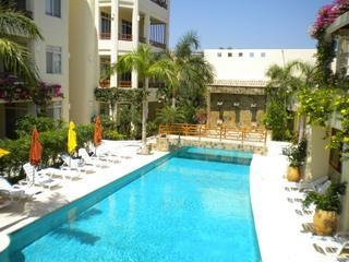 Large pool with loungers and umbrellas - Pool Side 2 br Condo Steps From the Beach with Great Amenities - Huatulco - rentals