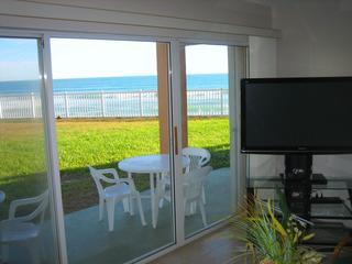 Living room with view of the Ocean - Oceanfront...Newly Reno'd...Excellent Ocean Views - Satellite Beach - rentals
