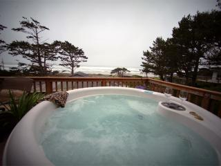 Panoramic Ocean View with Large Deck and Hot Tub! - Yachats vacation rentals