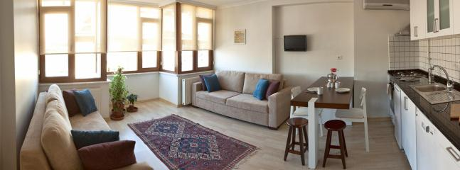 Livingroom fourth floor - Iskele house: Holiday flats in Istanbul - Istanbul - rentals