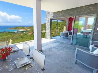 CRYSTAL...dazzling contemporary villa overlooking Guana Bay, St Maarten - Oyster Pond vacation rentals