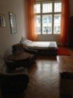 View of the bed sitting area from the entryway - 1.5 bedroom apartment close to the Basilica area - Budapest - rentals