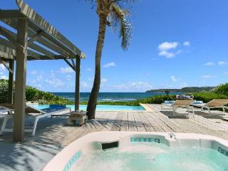 Incredible Sea Sand and Sun Villa is beachfront with a large terrace and jacuzzi - Anse Des Cayes vacation rentals
