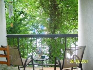 Wooded view on private balcony - #109 Gatlinburg Chateau - 2 Bedroom Condo - Gatlinburg - rentals