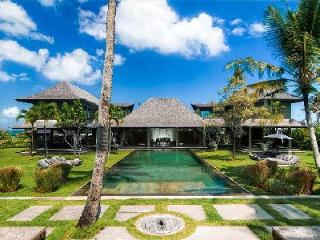 Sophisticated beachfront Mahatma House steps to beaches with 60 ft river stone pool - Seseh vacation rentals