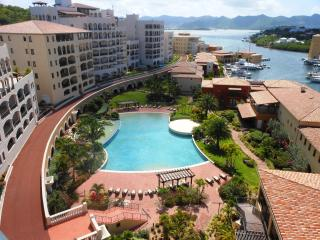 CARIBBEAN PEARL...Porto Cupecoy, top floor with expansive views of the marina, lagoon and ocean - Cupecoy vacation rentals