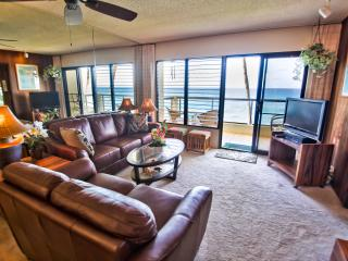 Poipu Shores 201A 2BR Oceanfront. Updated. - Poipu vacation rentals