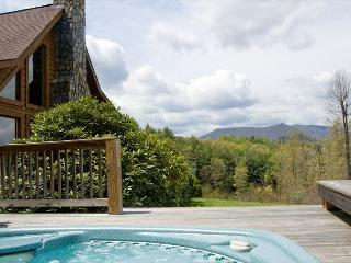 Log Cabin with Phoenix Mountain Views, Hot Tub, Wi-Fi, Fishing Lake and More. - West Jefferson vacation rentals