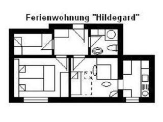 Apartment, 2 bedrooms (3-5 persons) - Usingen vacation rentals