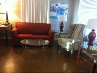 Open-concept living room with sofabed. - NO FRILLS, ALL AMENITIES, NO WIFI, RENTAL HOUSE! - Phoenix - rentals