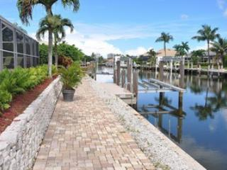 View of Canal and Boatlift - Balboa Ct. - BALB1268 - Immaculate Waterfront Home! - Marco Island - rentals