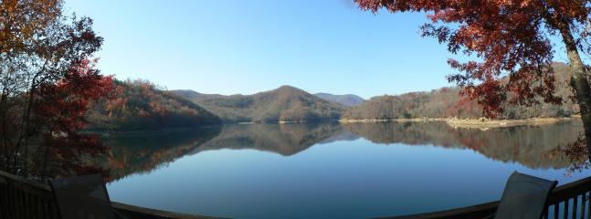 view from our deck - The Dock House - Luxury on Lake Nantahala, NC - Topton - rentals