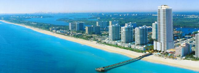 LaPerla building and fishing pier to ocean - Beachside Paradise 2 bedroom on 27th Floor, La Per - Sunny Isles Beach - rentals