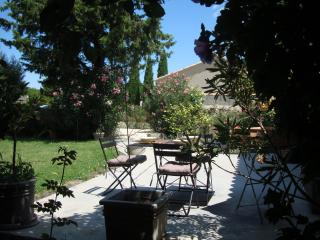 Avignon countryside : Independent apt with private garden in vineyard village - Domazan vacation rentals