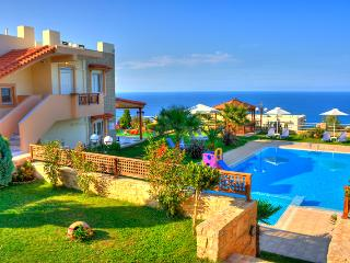 Lux villa with panoramic sea view, gardens and pool - Myrthios vacation rentals