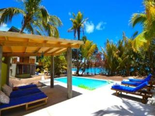 A modern, chic, eco 4 bedroom house with a swimming pool on the white sands of a beautiful Caribbean beach, 4 expertly decorated - Bequia vacation rentals