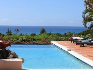 Unforgettable Long Bay view from this Mediterranean style villa. C TES - Baie Longue vacation rentals