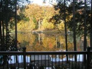 VIEW FROM UPPER DECK IN FALL - Beautiful Pocono Lakefront - Lake Ariel - rentals