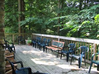 Trilogy Lodge with large porch and stairs to Lake - Berrien Springs vacation rentals