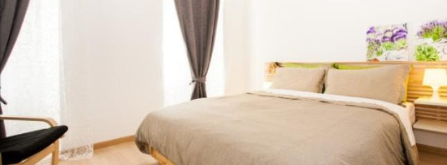 bed room. - a modern one bedroom apartment in Cres, Croatia - Cres - rentals