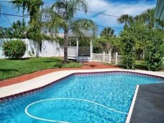 the pool is so refreshing - Private Home & Pool, Half a Block to Quiet Beach - Ormond Beach - rentals