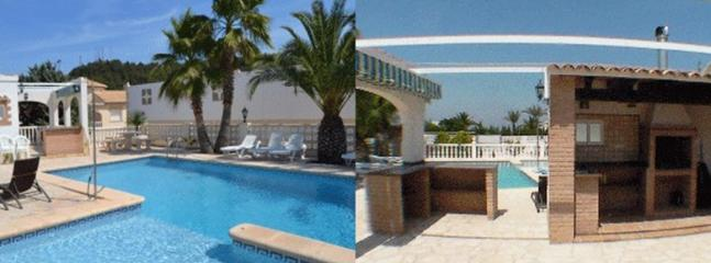 Pool with pergola, kitchen, barbecue, bar - Residence 2 apartments - secure private pool - panoramic sea views - Oliva - rentals
