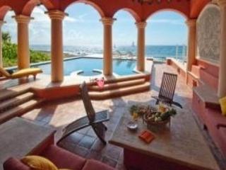 Hacienda Quinta Del Mar - Covered Terrace With Ocean and Pool View - Stunning Hacienda Quinta Del Mar, Puerto Aventuras - Puerto Aventuras - rentals