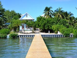 New Beach Front 3 bedroom 2 bath home with private pool, dock, Beach & AC - Caye Caulker vacation rentals