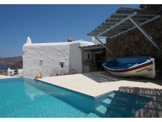 Private Pool with Agaeis Views - Luxury Mykonos Panormos Beach 3 BR Villa Pool - Panormos - rentals