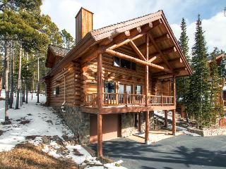 Modern log home with beautiful mountain views, free shuttle, and campfire  (mountain views, 150 yds to free shuttle) - Mountain Echo Lodge - Breckenridge vacation rentals
