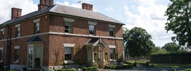 Grade II Listed Property - Front Elevation - Willington Lodge  - A Very Special Place to Stay - Whitchurch - rentals