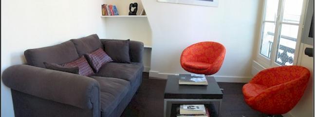 Living room - Marais Sevigne - Attractive St Paul 1 bedroom apartment - Paris - rentals