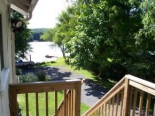 deck and view of The Esopus Creek - Esopus Bend Getaway 4 min to HITS - Saugerties - rentals