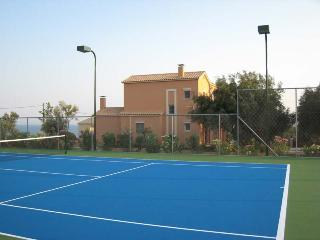 Tennis court Luxury Villa Ai-Helis beach Kefalonia - Svoronata vacation rentals
