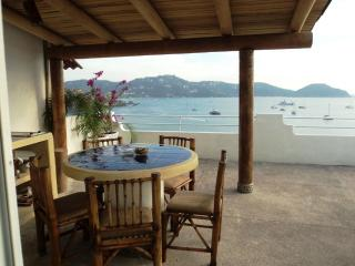 A Room with a View PH ocean front ample dinning terrace - Zihuatanejo vacation rentals