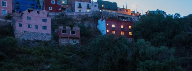 View of house from the street below. - Great Views in Guanajuato! - Guanajuato - rentals