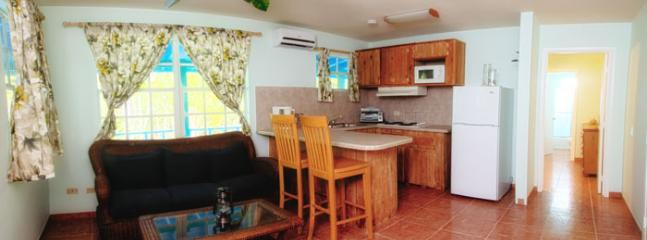 living room/kitchen area - Cottages at Caribe with Jeep and Boat Included - Great Exuma - rentals