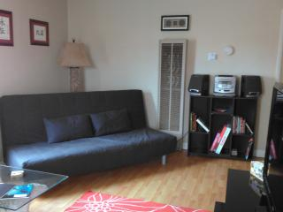 Living Room - Comfy Sleeper Futon for 2 - 49 Steps 2 - The ♥ of Mission Beach! - Pacific Beach - rentals