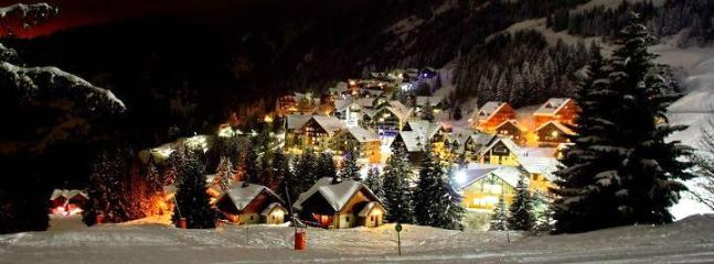 Oz Station By Night - Les Ecureuils/Squirrel Lodge Ski Apartment France - Oz en Oisans - rentals