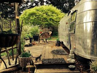 Glamping in Luxury! Vintage Airstream Trailer in a beautiful garden setting - Rio Dell vacation rentals