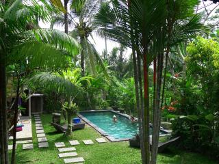 5 min to Ubud, Views! Lush garden w salt pool,A.C. - Ubud vacation rentals